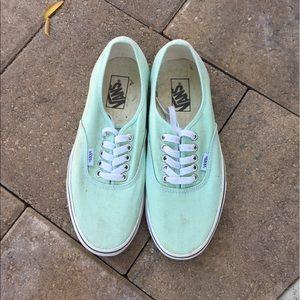 Mint Green Vans